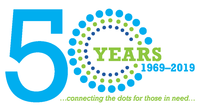 50 years of connecting the dots for those in need